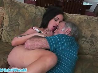 cock sucking  old man  pleasure
