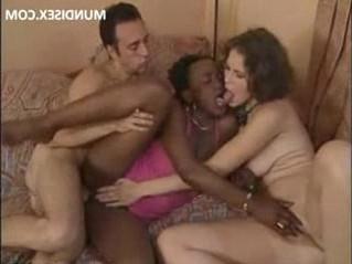 3some  black woman  interracial