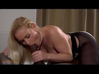 black  blonde  blowjob