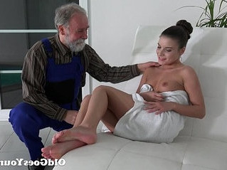 old and young  old man  pussy
