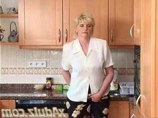 blonde  dildo  gilf