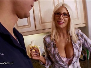 cum  cum on tits  glasses