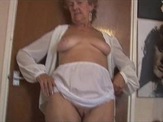 blonde  gilf  stockings
