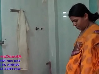 aunty  desi  shower